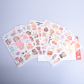 6sheets lot Cute kawaii girl paper stickers note Creative sticker Decoration label Combination Multifunction Super gift