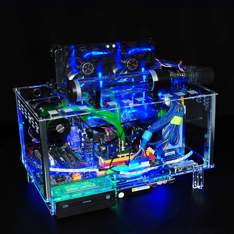 QDIY PC-D779XL E-ATX Large Motherboard Personalized Cool PC Case Water Cooling Computer Case(China (Mainland))