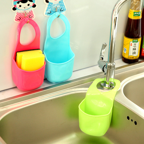 Free Shipping 1Pcs Creative Kitchen Tools Bathroom Gadgets Candy Colors Soft PVC Plastic Soap Dish Soap Handing Storage Box(China (Mainland))