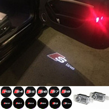 LED Door Warning Light With For audi Logo Projector For Audi A6 C5 A4 B6 B8 80 A1 A8 TT Q7 Q5 Q3 A3 A5 A7 R8 RS S line S3 S4 S5(China (Mainland))