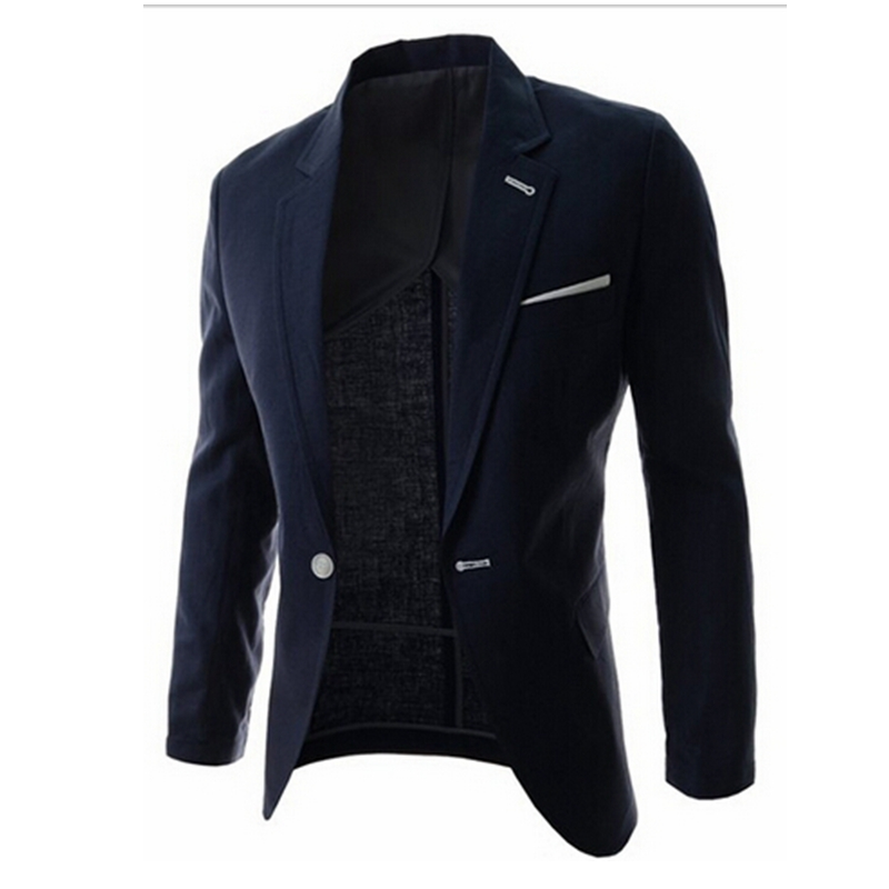 winter fashion men slim fit blazers casual men suit jacket blazer. Black Bedroom Furniture Sets. Home Design Ideas