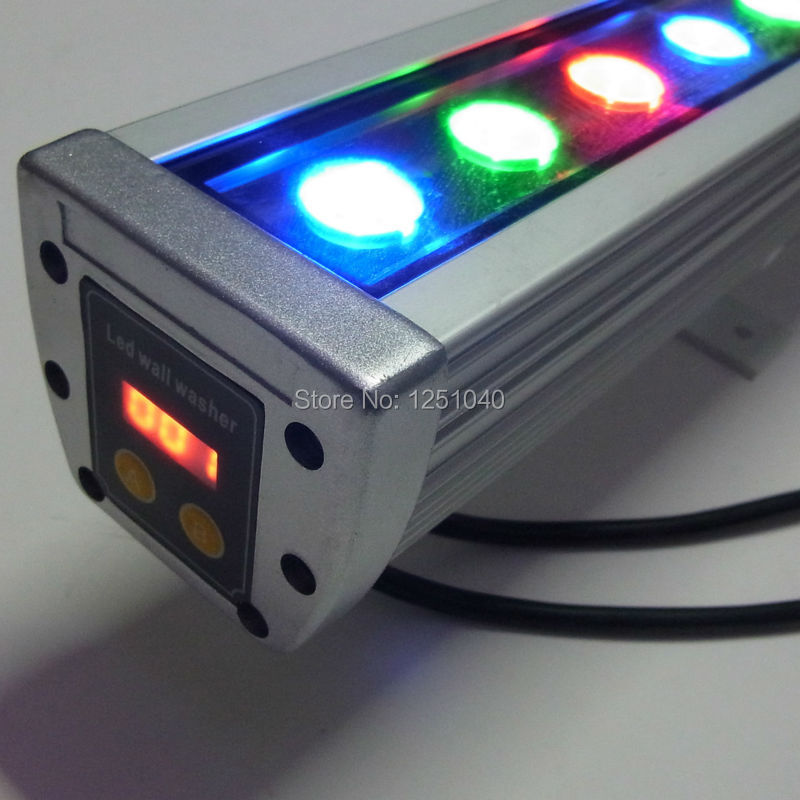 18W RGB Changeable LED Wall Washer AC85-265V Outdoor Spotlights IP65 Waterproof Floodlight DMX512 Buildings Projector Light<br><br>Aliexpress