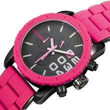 Elegante joyería 2015 nuevos elegante nuevas adquisiciones de la mujer relojes de moda de acero inoxidable y venda del silicio reloj pesado