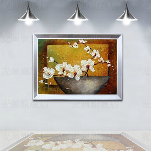 Modern hand painting oil painting decorative painting entranceway mural picture frame paintings box art phalaenopsis z19