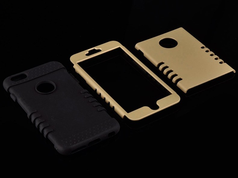 Phone Cases For iPhone 6 Luxury 3 in 1 Plastic Hard Mobile Bags For iPhone 6 Plus Silicone Cover Armor Hybrid Phone Capa Back