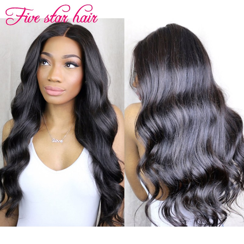 2016 New arrival Long Wavy Lace Front wigs 8A grade Brazilian virgin hair Silk Top Full Lace human hair wigs for black women<br><br>Aliexpress