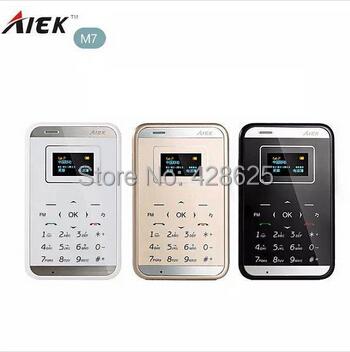 Original AIEK M7 Card Mobile Phone 6.5mm Ultra Thin Children Gift Mini Music Bluetooth Phone Russian Spain PK Aiek M5 Phone(China (Mainland))