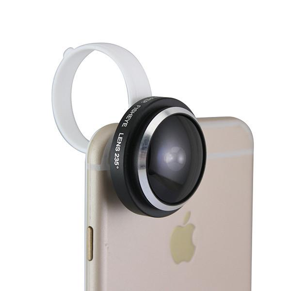 Detachable Clamp 235 Degree 0.4x Super Fisheye Lens for Smart Phone iPhone 6 ipad Samsung Galaxy S6 (4)