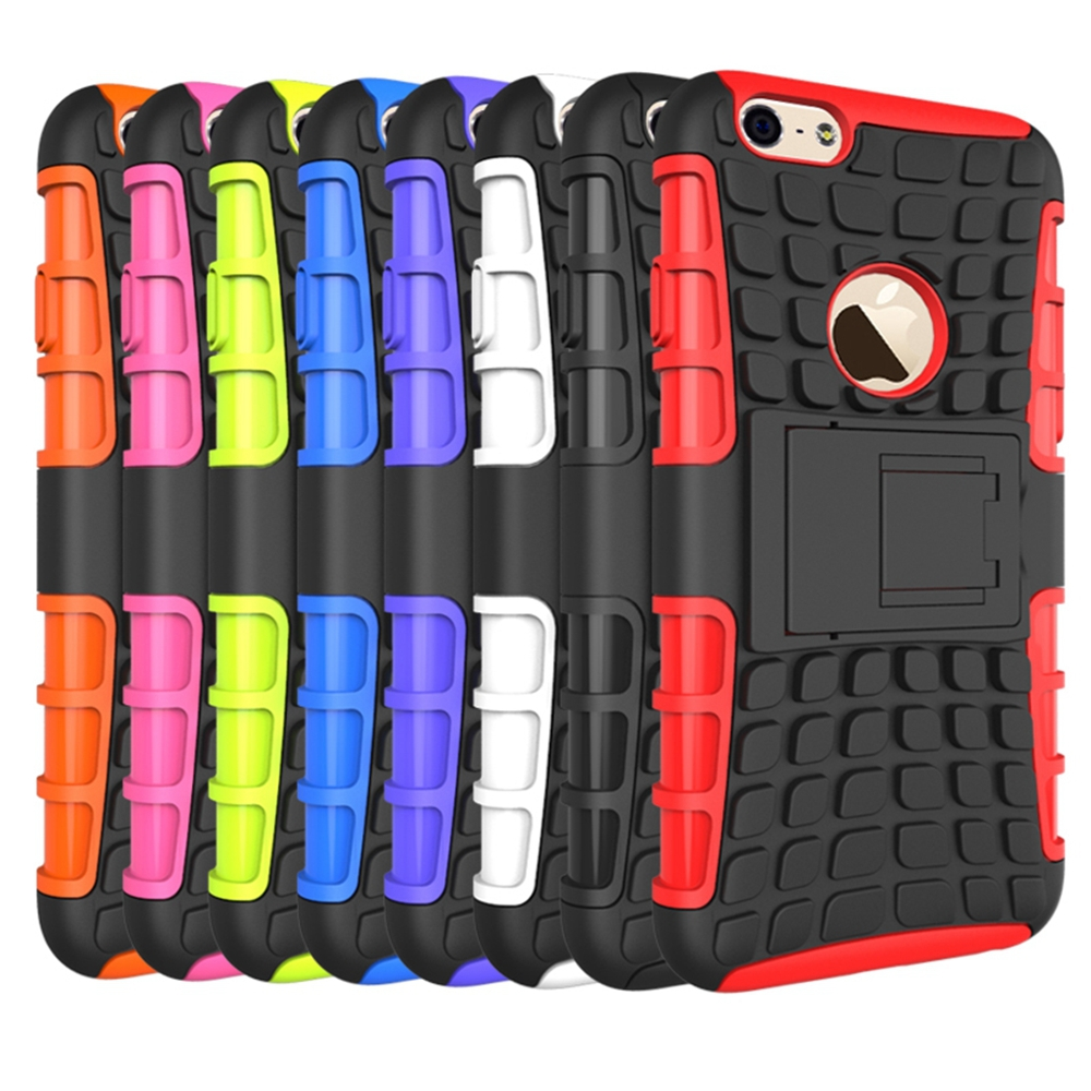 For IPHONE 6 5.5 Tire pattern case, two in one TPU+PC Tire pattern Stand Cell Phones Case Cover For IPHONE 6 5.5 case(China (Mainland))