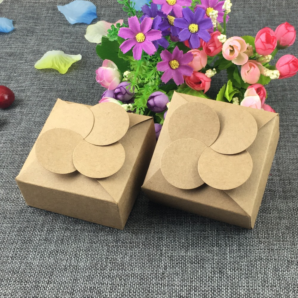 Michaels Brown Favor Boxes : Aliexpress buy pcs kraft flower shape paper box
