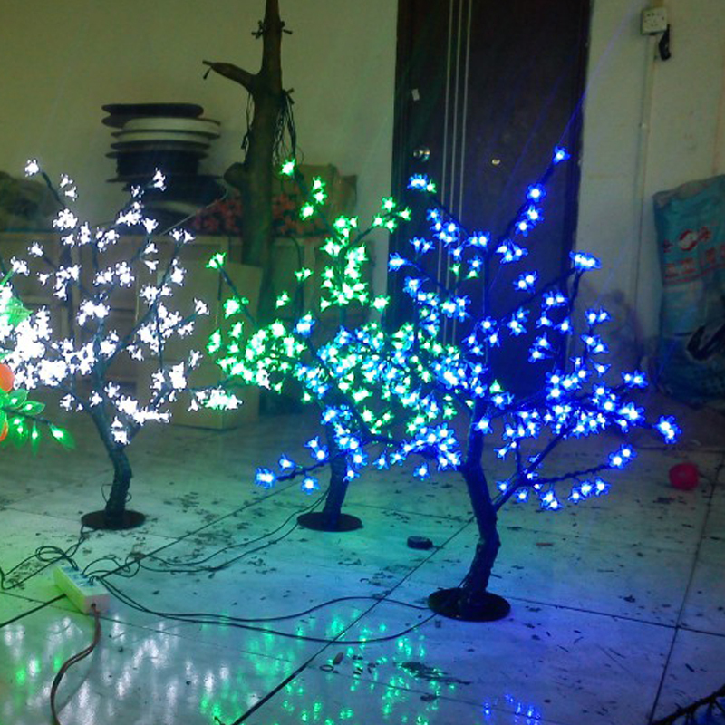 0.8Meter 200LEDS artificial cherry led blossom tree with cheap christmas lights and cheap led lights(China (Mainland))
