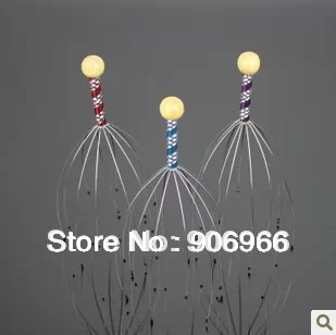 Germinal hair care scalp  octopus massage Manually head massager grasping head device 6pcs/lot Free shipping