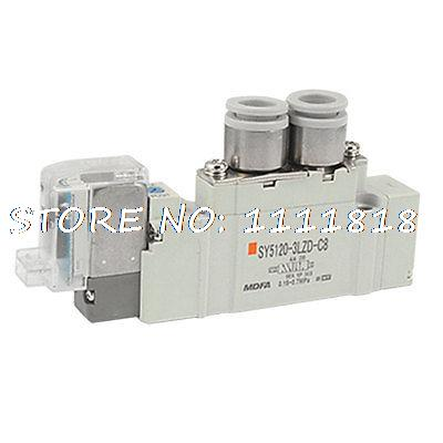 2 Position Single Actuation 5 Way Solenoid Valve AC110V<br>