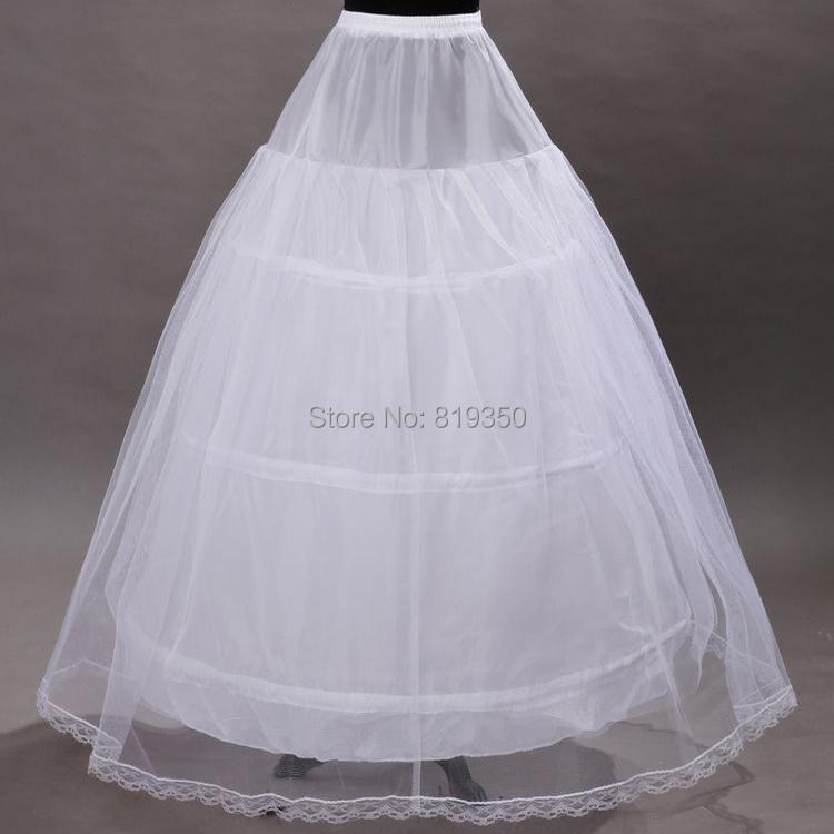 Free shipping 2016 us2 26w plus size bridal crinoline for Plus size wedding dress petticoat