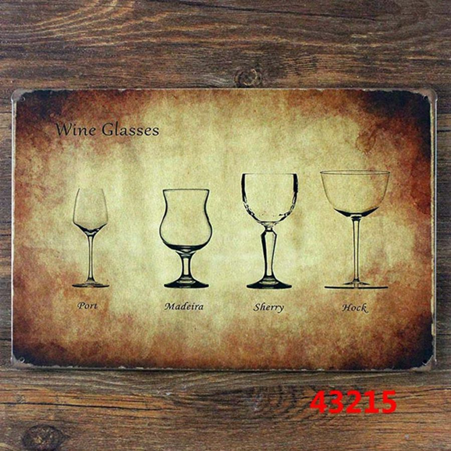 Buy Vintage Home Decor Kitchen Wall Art Metal Tin Sign Various Sizes Of Wine