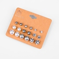 DANZE Brand Trendy Simulated Pearl Stud Earring Set Bowknot Owl Heart Crystal Ear Studs Earing for