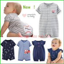2015 new summer carters baby girl clothing 0 24M short jumpsuits romper carters baby boy menino