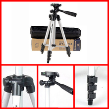 Portable WT3110A Tripod Aluminum With 3-Way Universal Digital Camera Tripod with Bag for Canon Nikon Sony Pentax DSLR