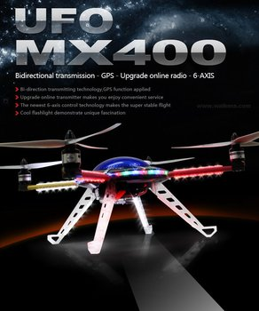 Walkera UFO MX400 RTF 6-Axis Gyro System +DEVO7 radio + Aluminum box  with battery&charger