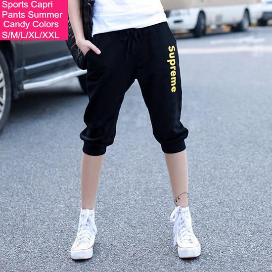 92011057 s 17 5 Женские брюки Sports capri s/xxl 5 2015 Loose ab17