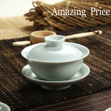 Do Promotion Tureen Ruyao Gaiwan Chinese Porcelain Tea Pot Tea Set Bone China Tea and Coffee