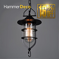 Industrial Vintage Pendant Lights Pastoral Simplicity Retro Lighting Fixture Restaurant Living Room Rustic Iron Art Glass Lamp
