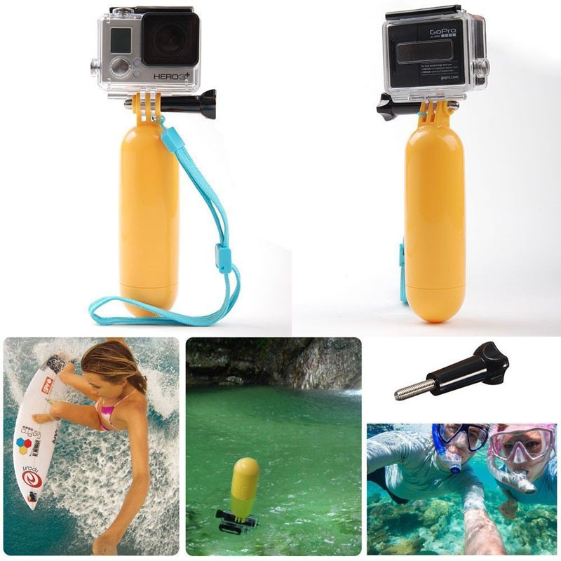 Gopro Floating Hand Grip Camera Tripod/Pole Mount Handle Hero Includes Thumb Screw Adjustable Wrist Strap - Cup of Math store