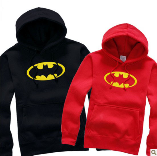 Hot-selling Dc Comics Batman Letterman Button Up Hoodie Adult Sweatshirt(China (Mainland))