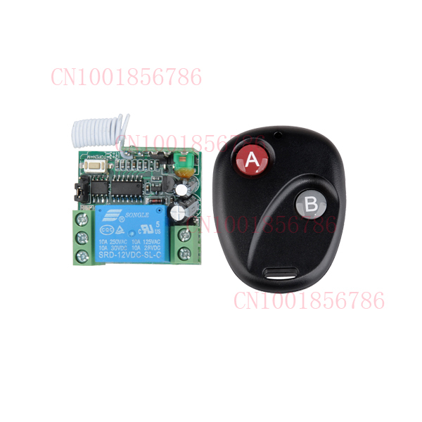 Free Shipping DC 12V 10A 1CH Wireless RF Remote Control Switch Transmitter+ Receiver For Access/door System<br><br>Aliexpress