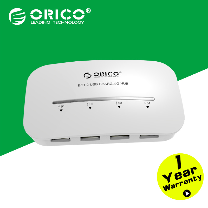 ORICO DH4-U3-WH 4 port USB splitter 5V2.4 tablet charger With power adapter for Iphone 6 Computer 4 ports multi usb 3.0 hub