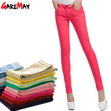 GAREMAY Women's Candy Pants Pencil Trousers 2016 Spring Fall Khaki Stretch Pants For Women Slim Ladies Jean Trousers Female 1010(China (Mainland))