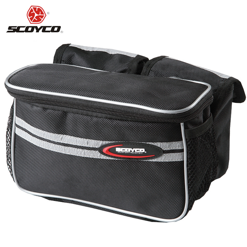 SCOYCO Mountain Road MTB Bike Bicycle Bag Cycling Front Top Tube Frame Pannier Reflective Durability Double Bag Pouch(China (Mainland))