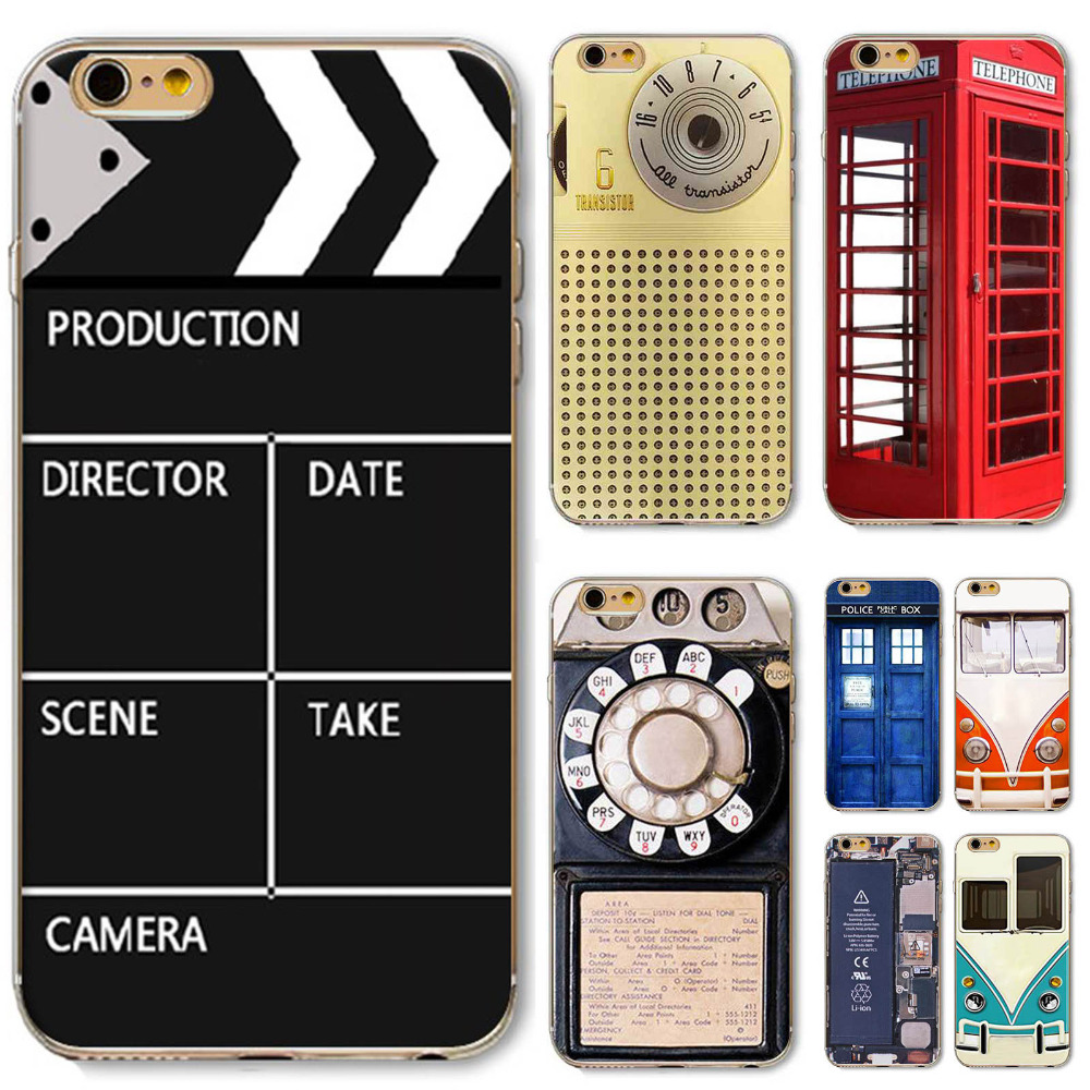 Phone Case For iPhone 4/4s 5/5s/SE 5C 6/6s 6P/6SPlus Soft Ultra thin Retro Reminiscence Old Recorder Phone Case Popular Designs(China (Mainland))
