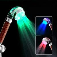 C-158 3 Color Temperature Control Romantic LED Bathroom Shower Head