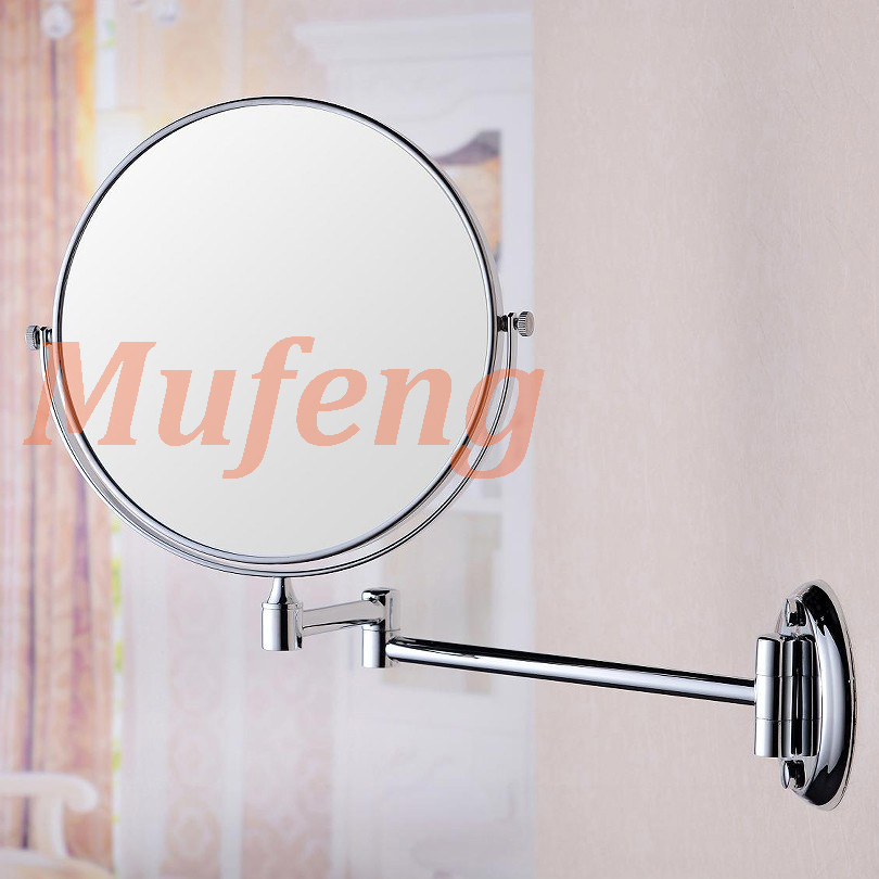 8 Inch Bathroom Ladies Beauty 1:1 and 1:3 Magnifying Make up Mirror Wall Mounted Copper Cosmetic Mirror Double Faced Bath Mirror(China (Mainland))