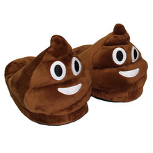 Feitong Winter Funny Adult Emoji Cartoon Warm Slippers Plush Slippers Expression Half a Pack With Wool Slippers zapatilla casa(China (Mainland))