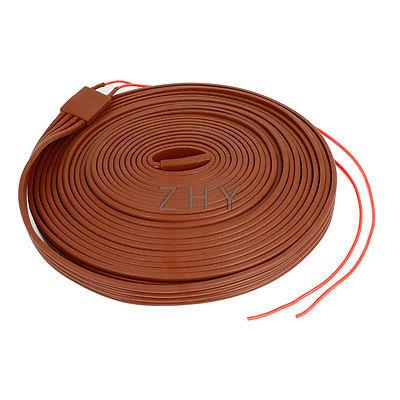Фотография Red Silicone Waterproof Heater Strip Band 25mm Wide 10M Long 60V