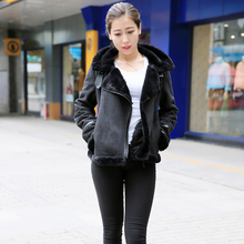 Autumn and winter Women slim suede fabric fur one piece thermal outerwear rabbit fur jacket(China (Mainland))