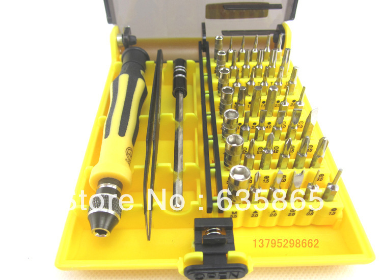 2014 new 45 in one multi function screwdriver set mobile phone laptop repair tools computer tool. Black Bedroom Furniture Sets. Home Design Ideas