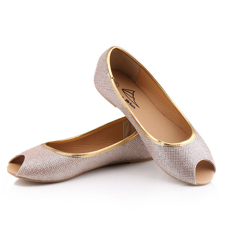 2015 summer sweet fish head shoes shiny flat shoes color for Fish head shoes