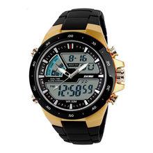 New Waterproof S shock Mens Waterproof Digital LCD Alarm Date Analogue Military Sport Watch