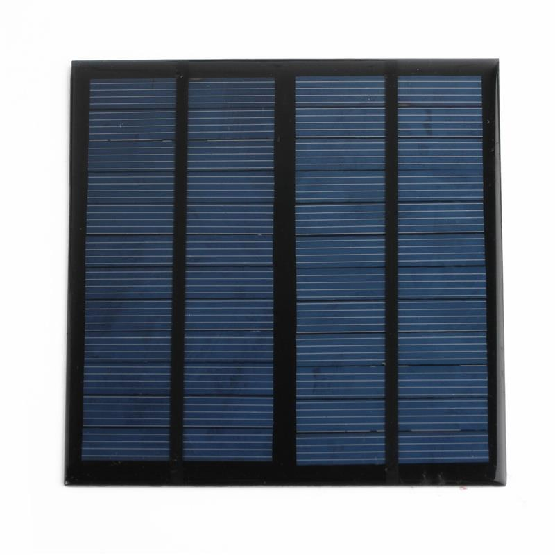 Universal 12V 3W Solar Panel Module for Light Battery Cell Phones Charger Portable DIY Incredibly Efficient Output 145x145x2.5mm