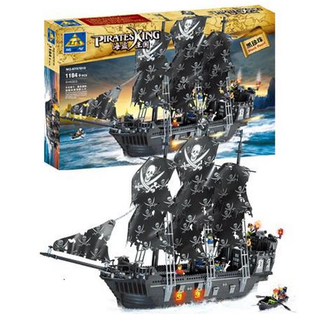 Kaizi model building kits compatible lego ship pirates king 3D blocks Educational toys hobbies children - 2015 09 22 Toys store