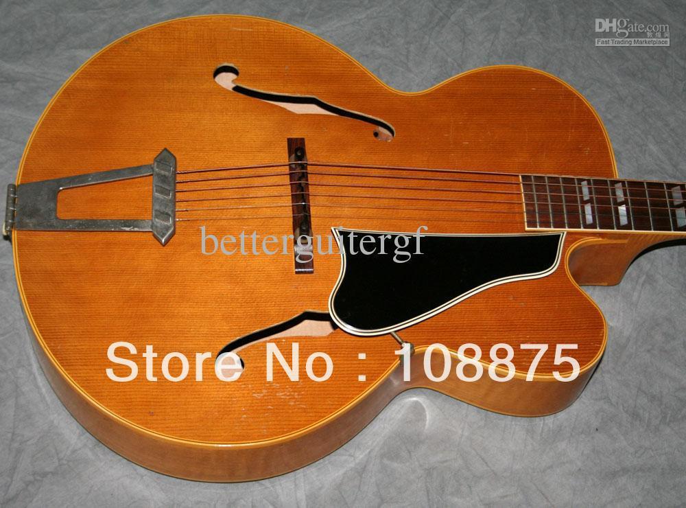 2013 caliente nuevo estilo de 6 cuerdas eléctrica L7 CN vendimia Archtop guitarra acústica ( GAT0119 L-7 ) 100% excelente Qua(China (Mainland))