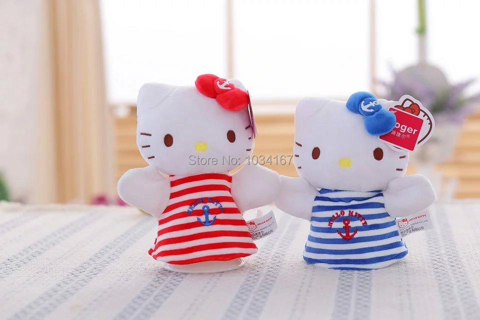 Free shipping! Hello Kitty Cat hand puppets plush toys, children's gifts, gifts girlfriend(China (Mainland))