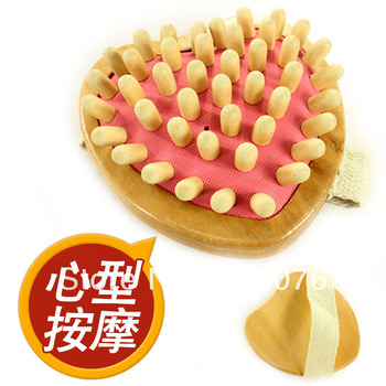 Best selling! Pure wooden heart shape massage device handed slimming Body massager shaping the curve Free shipping