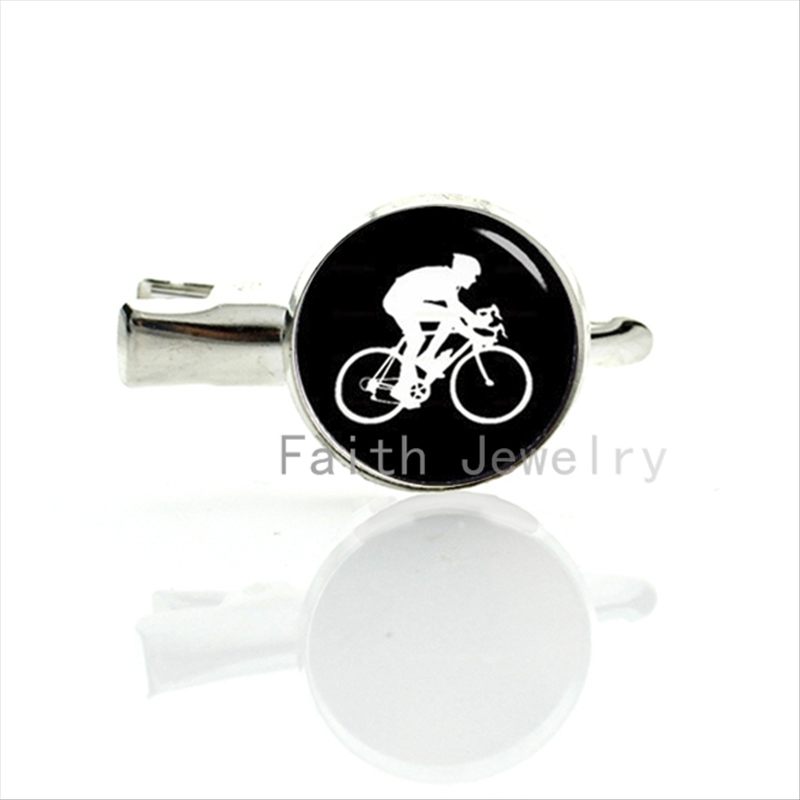 2016 leisure sports style Cycling hairgrips minimalist Cyclist silhouette profile art image hairpin bicycle sport hair clip T353(China (Mainland))