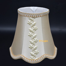 Beige leaves Mini Lamp Shade elegant fabric lampshades covers fitting for E14 lamp holder for chandelier table lamp wall lamp(China (Mainland))
