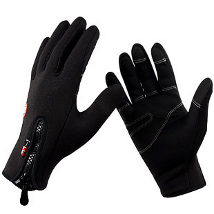 Outdoor Sports Ski Bike Bicycle Driving Fleece Warm Thermal Winter Gloves -- Phone Touch Screen - Cherry World store