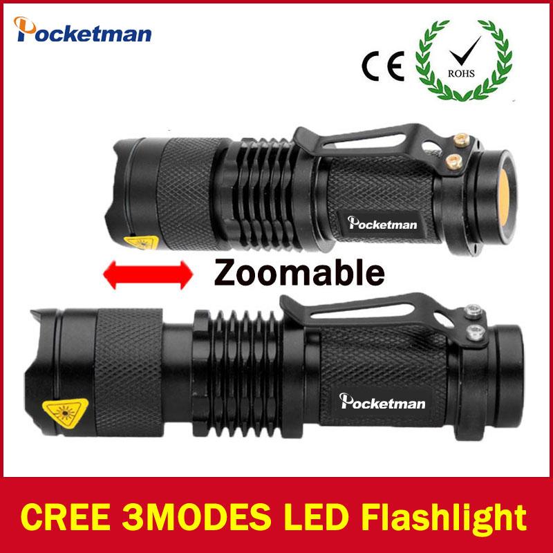 2017 LED flashlight Lanterna led High Power Torch 2000 lumen Zoomable mini Flashlight tatica light lantern high-quality(China (Mainland))